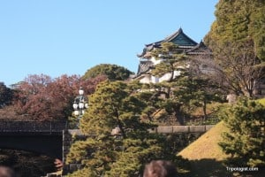 The Imperial Palace of the Japanese Emperor.
