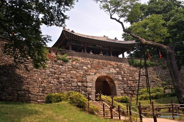 The south gate of Namhansanseong in Seongnam, South Korea.