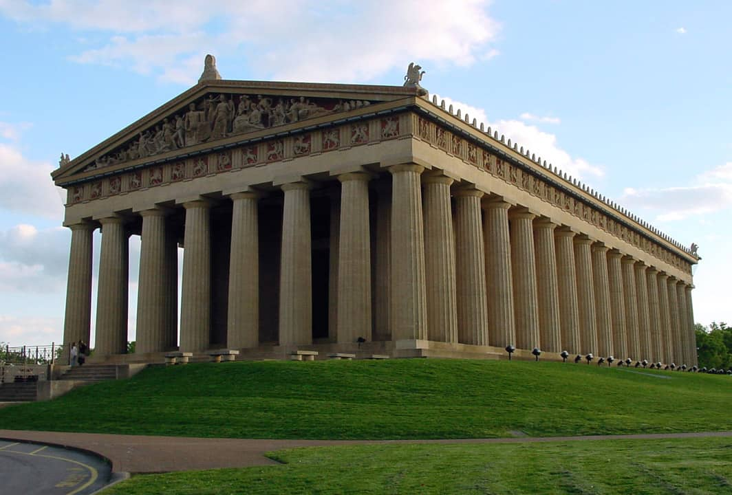 Nashville's full-size replica of the Parthenon is one of the oddest attractions in all of the USA.