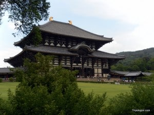 The main hall at Todaiji, the largest wooden building in the world.