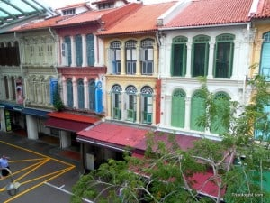 Beautifully restored houses in Singapore's Chinatown.