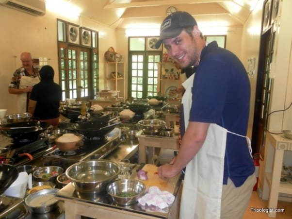 Learning to cook at the Tropical Spice Garden in Penang, Malaysia.