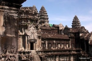 The beautiful and imposing Angkor Wat in Siem Reap, Cambodia.