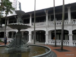Feeling rich? Take a stroll through Raffles Hotel in downtown Singapore.