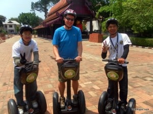The Segway Gibbon guides and I checking out Chiang Mai, Thailand.