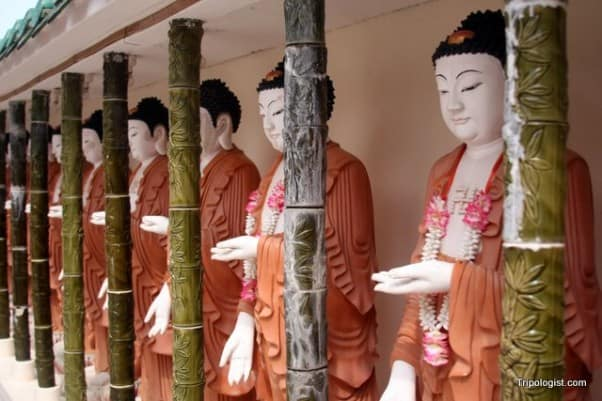 Some of the many statues at Kek Lok Si Buddhist Temple outside Georgetown, Malaysia.