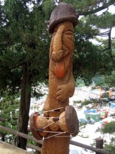 A comically carved penis statue at Haesindong Park.