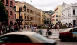 Largo de Senado, the main square in Macao's old town.
