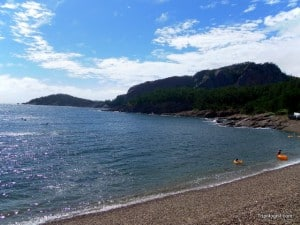The beautiful hidden pebble beach of Seonyudo Island.