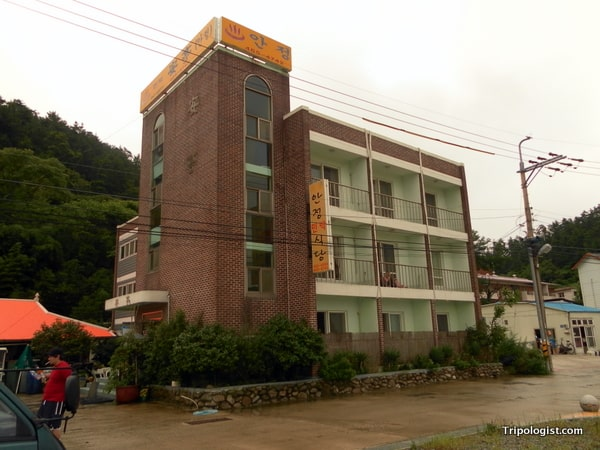 The hotel I stayed at on Seonyudo