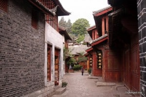 An alley in Lijiang, China's old town. The side-streets are refreshingly empty despite the tourist hordes.