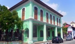 A typical colonial era house in Chinatown, Georgetown, Malaysia.