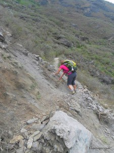 The trail can be treacherous due to rockslides and heavy rain. Make sure to use caution when hiking.