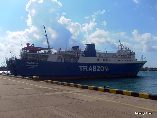 The slow ferry that runs between Trabzon, Turkey, and Sochi, Russia.