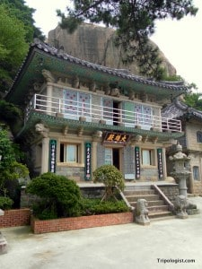 The main building of Seokbulsa is a fantastic representation of Korean Buddhist design.