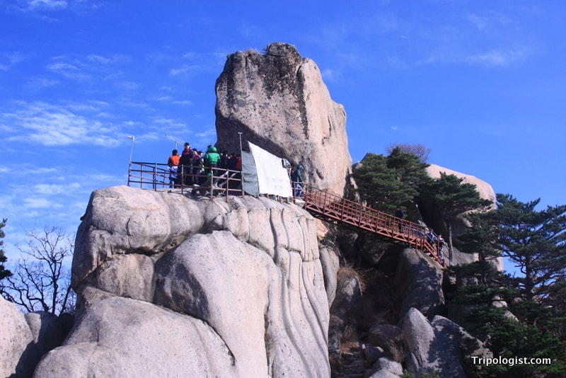 The Summit of Ulsanbawi in Seoraksan National Park just outside of Sokcho, South Korea.