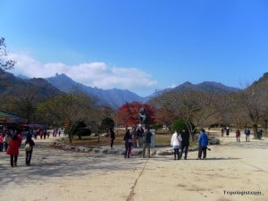 The view from the entrance to Seoraksan National Park is worth the price of admission.