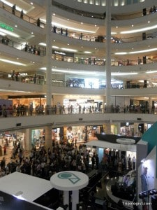 Occupying the lowest floors of the Towers, the shopping mall has a variety of shops and eateries to suit anyone's taste.