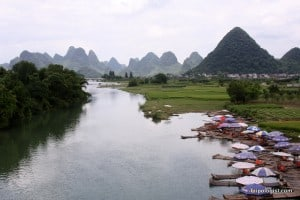 The area around Yangshuo, China, is perfect for a bike ride.