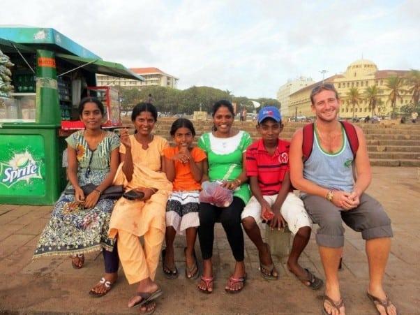 Friendly locals in Colombia, Sri Lanka