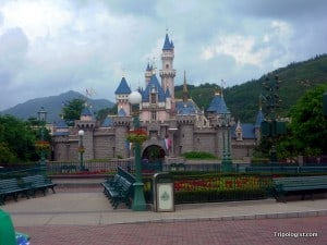 Cinderella's Castle at Hong Kong Disneyland.
