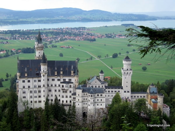 Neuschwanstein Castle in Bavaria, Germany is one of the most recognizable castles in Europe.