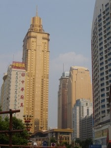 Skyscrapers in the Luo Hu district of Shenzhen, China.