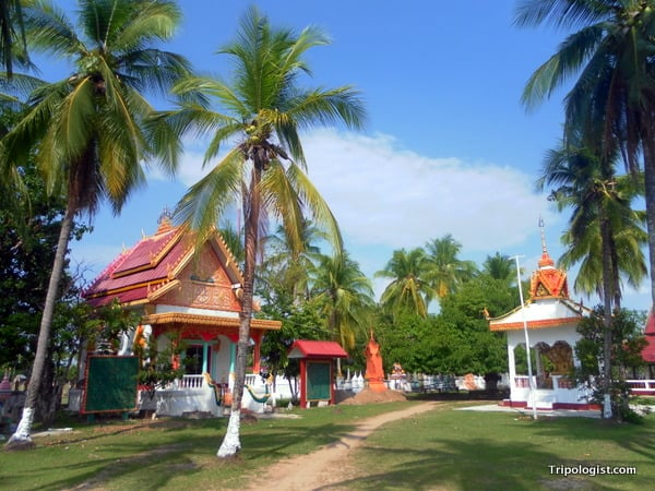 A Buddhist temple on the island of Don Dhet in the 4,000 Islands region of Laos.