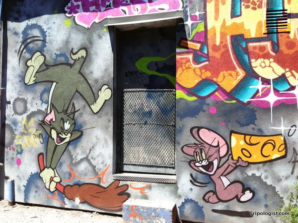 Tom and Jerry Graffiti along Toronto's Graffiti Alley.