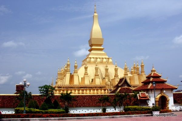 Located in the capital of Vientiane, Pha That Luang is the national symbol of Laos.