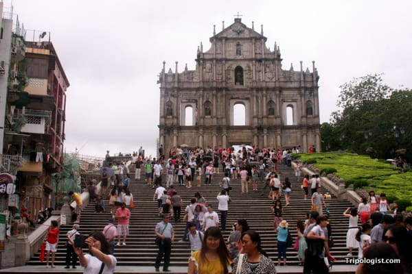 Marveling at the facade of Sao Paulo Church is one of the top things to do in Macau.