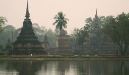 The ruins of Sukhothai, Thailand.