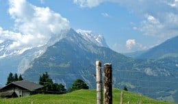 The beautiful Alps near Meiringen, Switzerland.