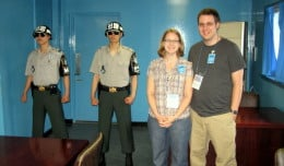 Visiting the Korean DMZ and standing in North Korea is impossible without taking a group tour. The Pros and Cons of taking a group tour.