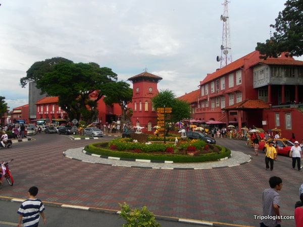 Dutch Square in the heart of Malacca's Chinatown.