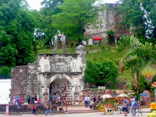 Two highlights of any trip to Malacca are the ruins of the old Portuguese fort, A Famosa, and the ruins of St. Paul's Church.