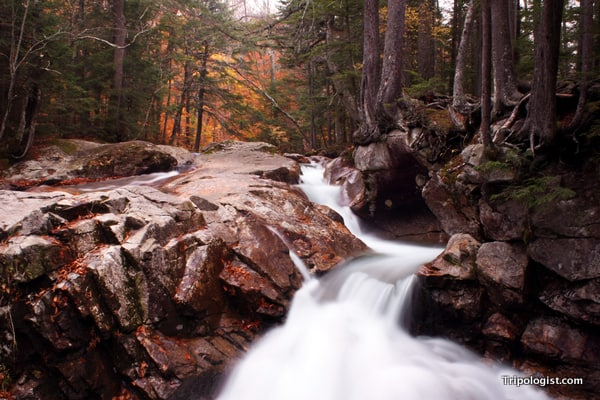 A waterfall in New Hampshire's White Mountains.