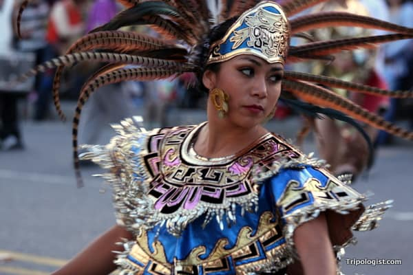 A Mexican dancer at the 2010 Seoul Drum Festival.