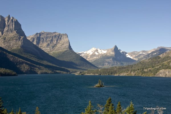 Wild Goose Island in St. Mary's Lake is one of the most photographed spots at Glacier National Park.