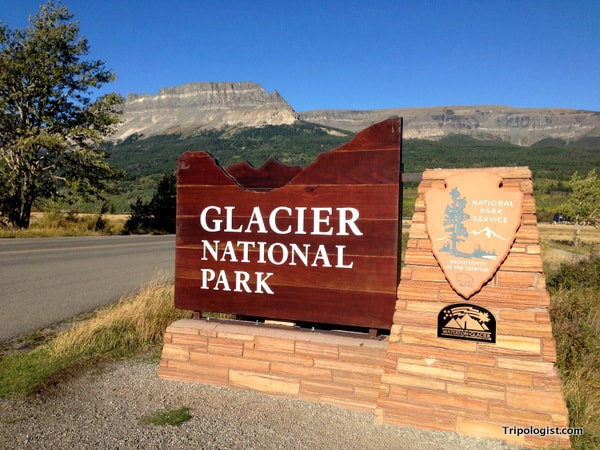 The entrance to Glacier National Park.