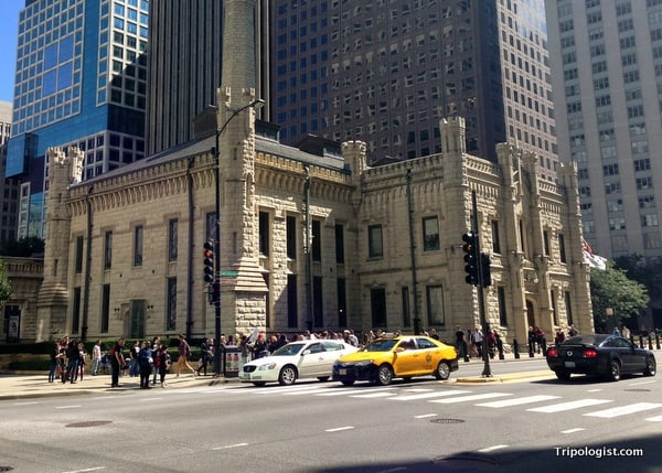 The old pumping station in downtown Chicago.