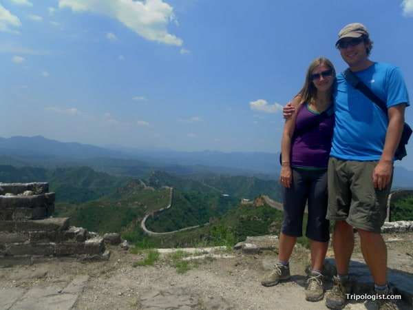 Taking a second to relax on the Jinshanling section of the Great Wall of China.