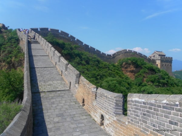 The Jinshanling section of the Great Wall of China has parts that are beautifully restored.
