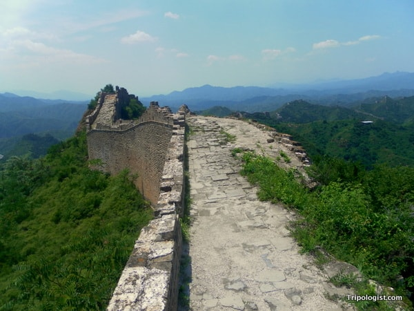 Another unrestored section of Jinshanling Great Wall.