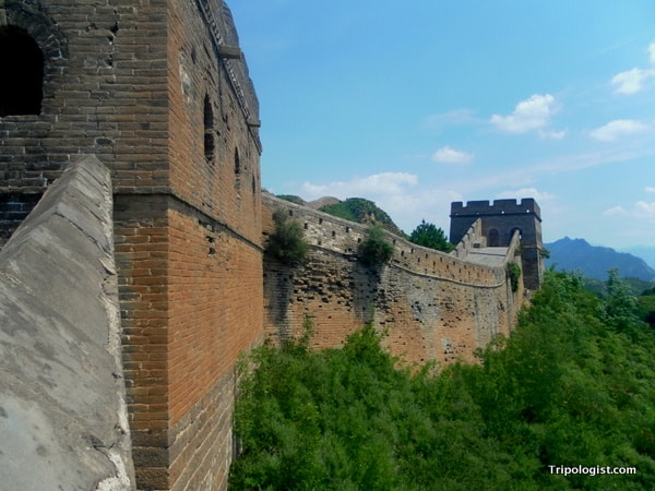 The outside of the Great Wall of China at Jinshanling.