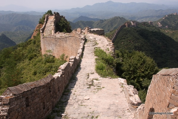 However, some parts of the Great Wall of China at Jinshanling haven't been restored in nearly 500 years.