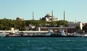 Taking a Bosporus River Cruise for 90% off in Istanbul, Turkey.