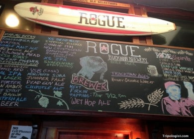 Rogue Public House in the Pearl District of Portland, Oregon.