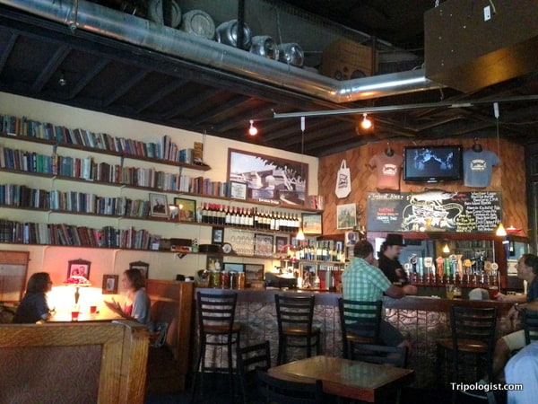 The charming interior of Tug Boat Brewing Company in Portland, Oregon's Pearl District