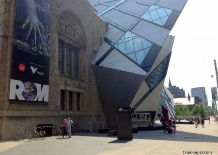 Visiting the Royal Ontario Museum in Toronto, Canada.